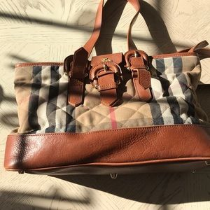 Burberry tote fabric